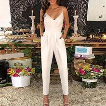 Load image into Gallery viewer, Elegant Halter V Collar New Arrival Vacation Jumpsuit