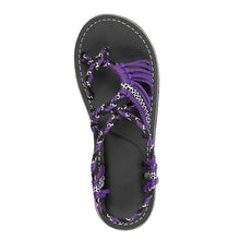 Load image into Gallery viewer, Contrast Stitching  Bohemian Sandals