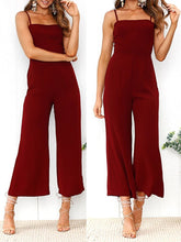Load image into Gallery viewer, Casual Boat Neck Off-Shoulder Pure Colour Jumpsuits