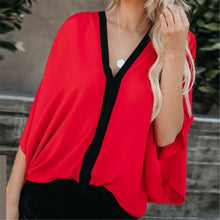Load image into Gallery viewer, Fashion V-Neck Loose Blouses
