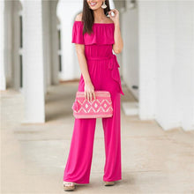 Load image into Gallery viewer, Sexy One Shoulder Solid Color Jumpsuits