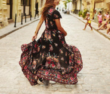 Load image into Gallery viewer, Casual Sexy V Neck   Bohemian Style Floral Print Maxi Dress