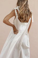 Load image into Gallery viewer, Tight Shoulder Bandwidth Loose Cotton And Linen Dress
