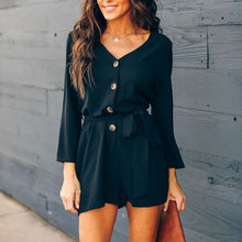 Load image into Gallery viewer, V-Neck Button Down Playsuit