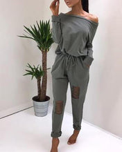 Load image into Gallery viewer, Sexy Off-The-Shoulder Hole Personality Jumpsuit