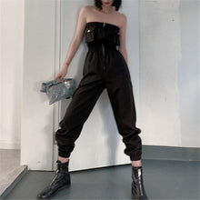 Load image into Gallery viewer, Fashion Tube Zipper Receive The Waist Tooling Style Jumpsuits