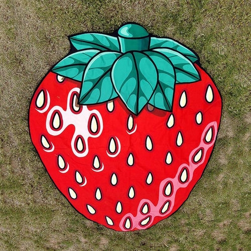 Lovely Strawberry Shape Beach Towel