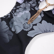 Load image into Gallery viewer, Backless Tassel  Decorative Hardware  Floral One Piece
