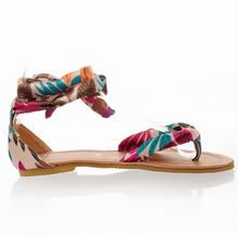 Load image into Gallery viewer, Bohemian Ribbon Flat Sandals