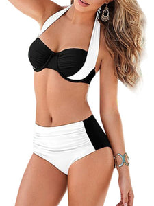 Halter  Two Way  Geometric Bikini