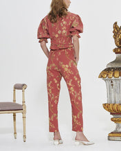 Load image into Gallery viewer, V-Neck Printed Lantern Sleeves Trousers Suit