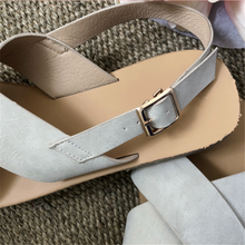 Load image into Gallery viewer, Cross buckle adjustable flat sandals
