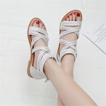 Load image into Gallery viewer, Women's Roman style retro flat sandals