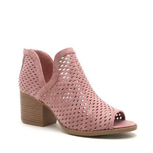 Openwork Fish Mouth Thick Sandals