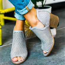 Load image into Gallery viewer, Openwork Fish Mouth Thick Sandals