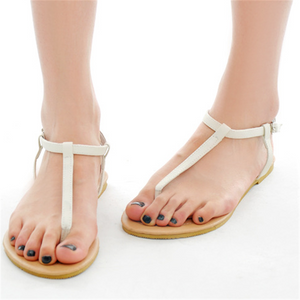 Women's Roman style pin-toe flat sandals