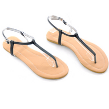 Load image into Gallery viewer, Women's Roman style pin-toe flat sandals