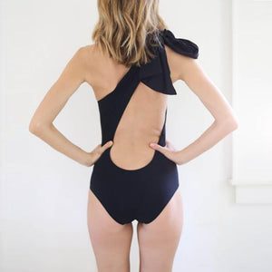 Elegant One-Shoulder Backless Swimsuit