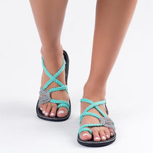 Load image into Gallery viewer, Contrast Stitching  Color Block Sandals