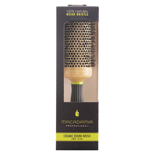 Styling Brush Boar Bristle Hot Curling Macadamia
