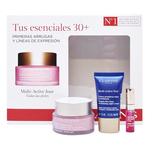 Women's Cosmetics Set Multi-active Clarins (3 pcs)