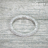 Hûggot Promise 925 Sterling Silver Ring with Zircons