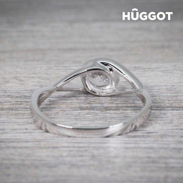 Hûggot Eye 925 Sterling Silver Ring with Zircons