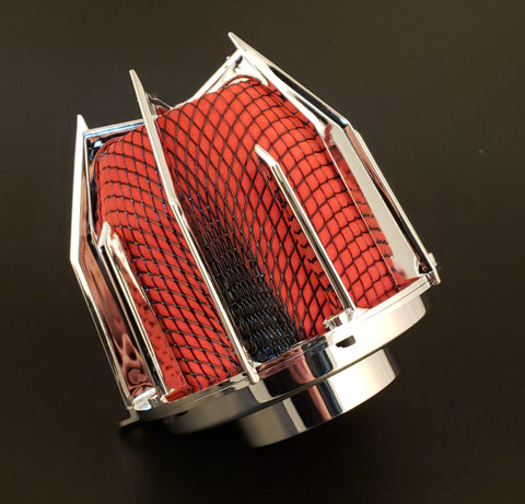 "DRAGON FILTER  - 3"" CHROME RED"