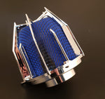 "DRAGON FILTER - 3"" Chrome Blue"