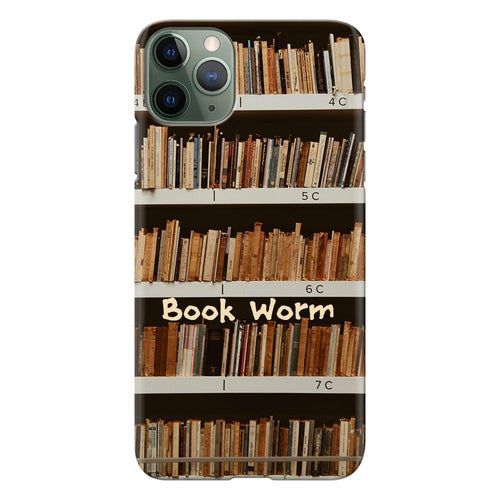 book worm design designer back cover iphone 11 pro max printnawab