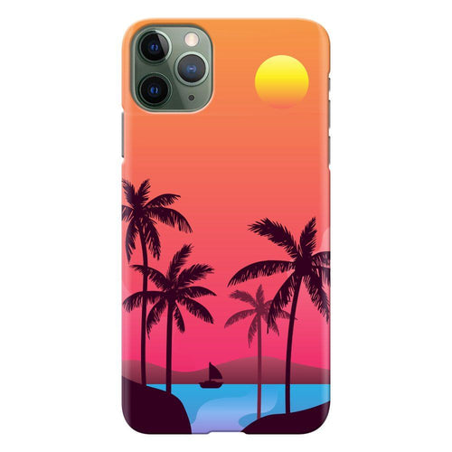 sunset beach design designer back cover iphone 11 pro max printnawab
