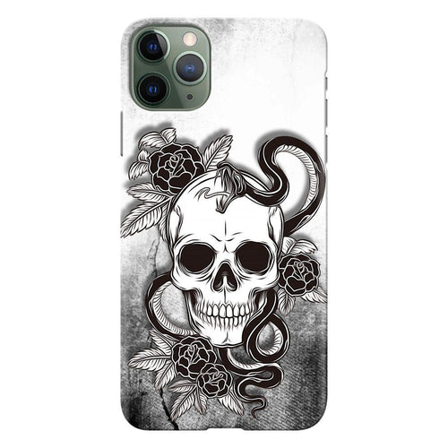 smiling skull design designer back cover iphone 11 pro max printnawab
