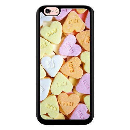 heart candy designer bumper cover iphone 6s glass case