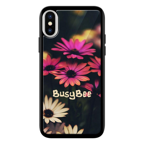 busy bee designer bumper cover iphone x glass case