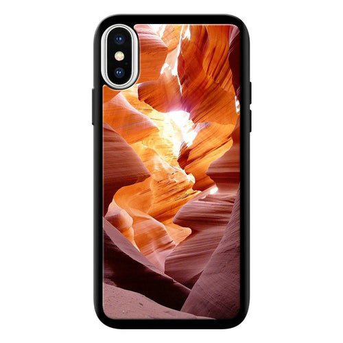 canyon waves designer bumper cover iphone x glass case