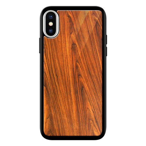 wood texture pattern bumper cover iphone xs max glass case printnawab