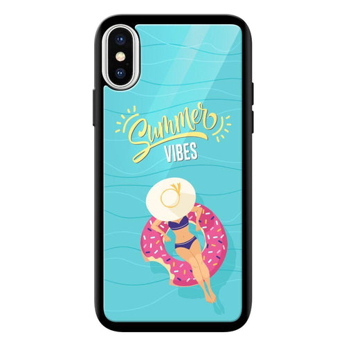 summer vibes designer bumper cover iphone x glass case