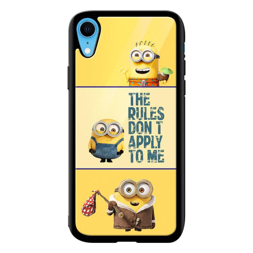 cute minions quote designer bumper cover iphone xr glass case