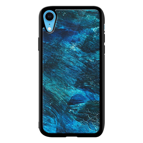 abstract blue strokes designer bumper cover iphone xr glass case