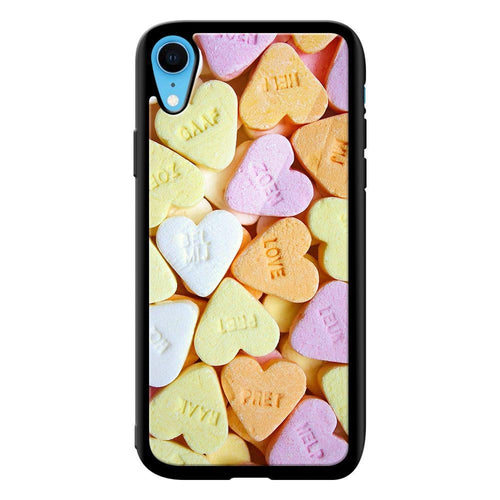 heart candy designer bumper cover iphone xr glass case