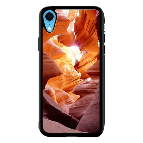 canyon waves designer bumper cover iphone xr glass case