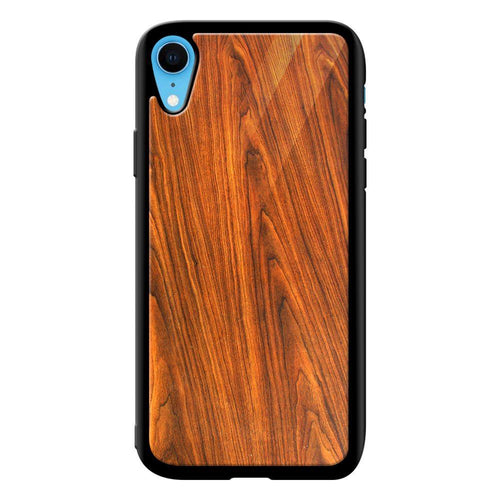 wood texture pattern bumper cover iphone xr glass case