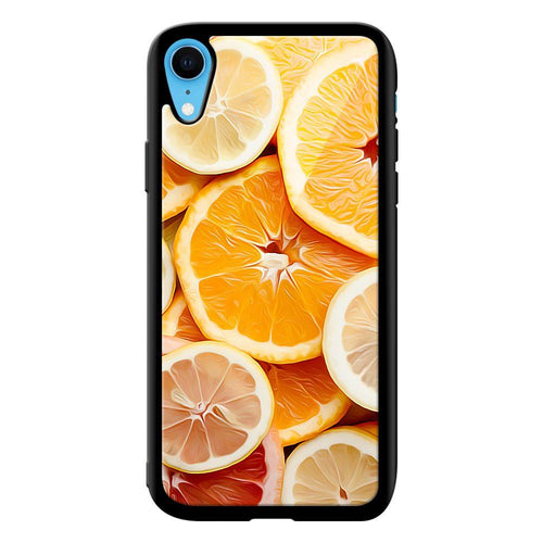 citrus fruit designer bumper cover iphone xr glass case