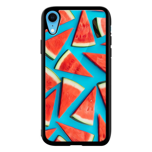 watermellon designer bumper cover iphone xr glass case