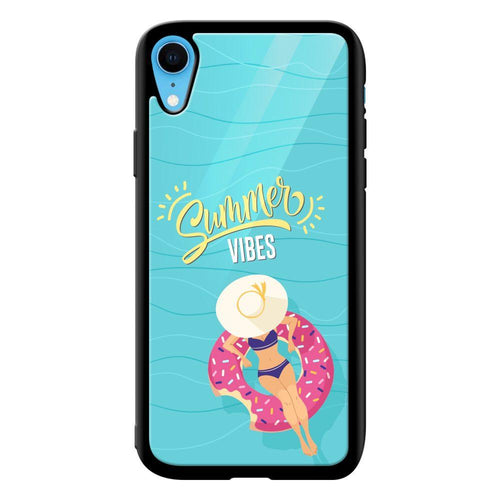 summer vibes designer bumper cover iphone xr glass case