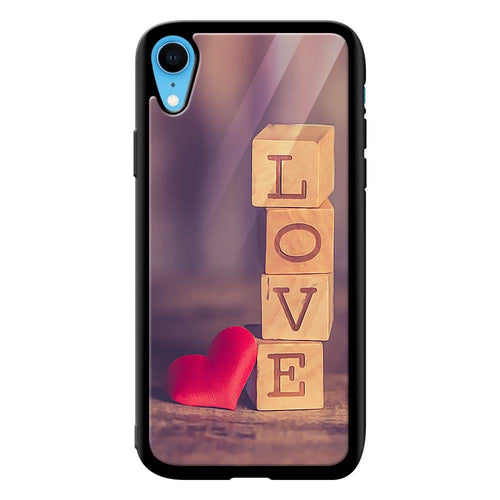 love blocks designer bumper cover iphone xr glass case