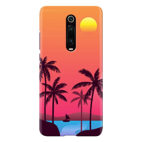 sunset beach design designer back cover xiaomi mi k20 pro printnawab