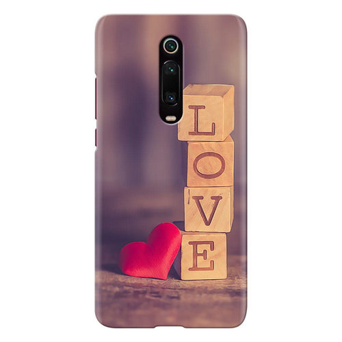 love blocks design designer back cover xiaomi mi k20 pro printnawab