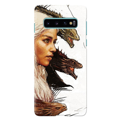 game of thrones daenerys with dragons design cover galaxy s10 printnawab