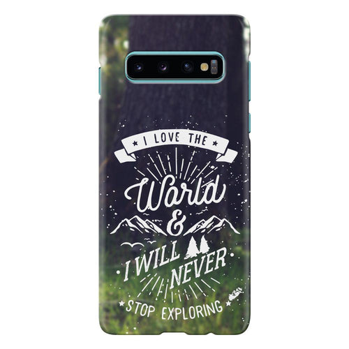 nature quote design cover galaxy s10 printnawab